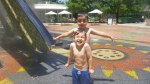 Fun at the Splash Ground at the Myriad Botanical Gardens!
